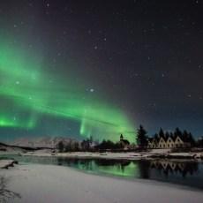 Polarlichter im Þingvellir-Nationalpark
