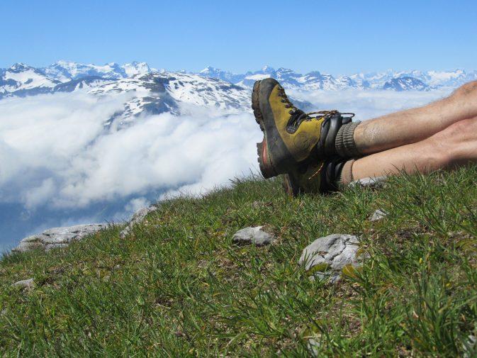 Pause auf dem Gipfel