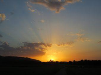 Sonnenaufgang in Würenlos