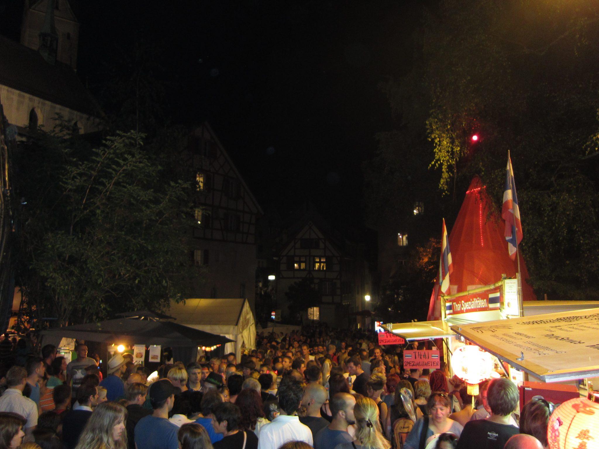 Partystimmung in Baden
