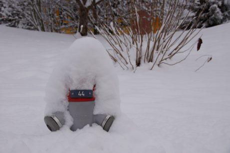 Hydrant im Schnee