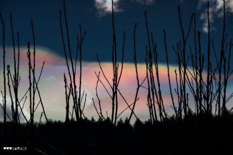 Irisierende  Wolken