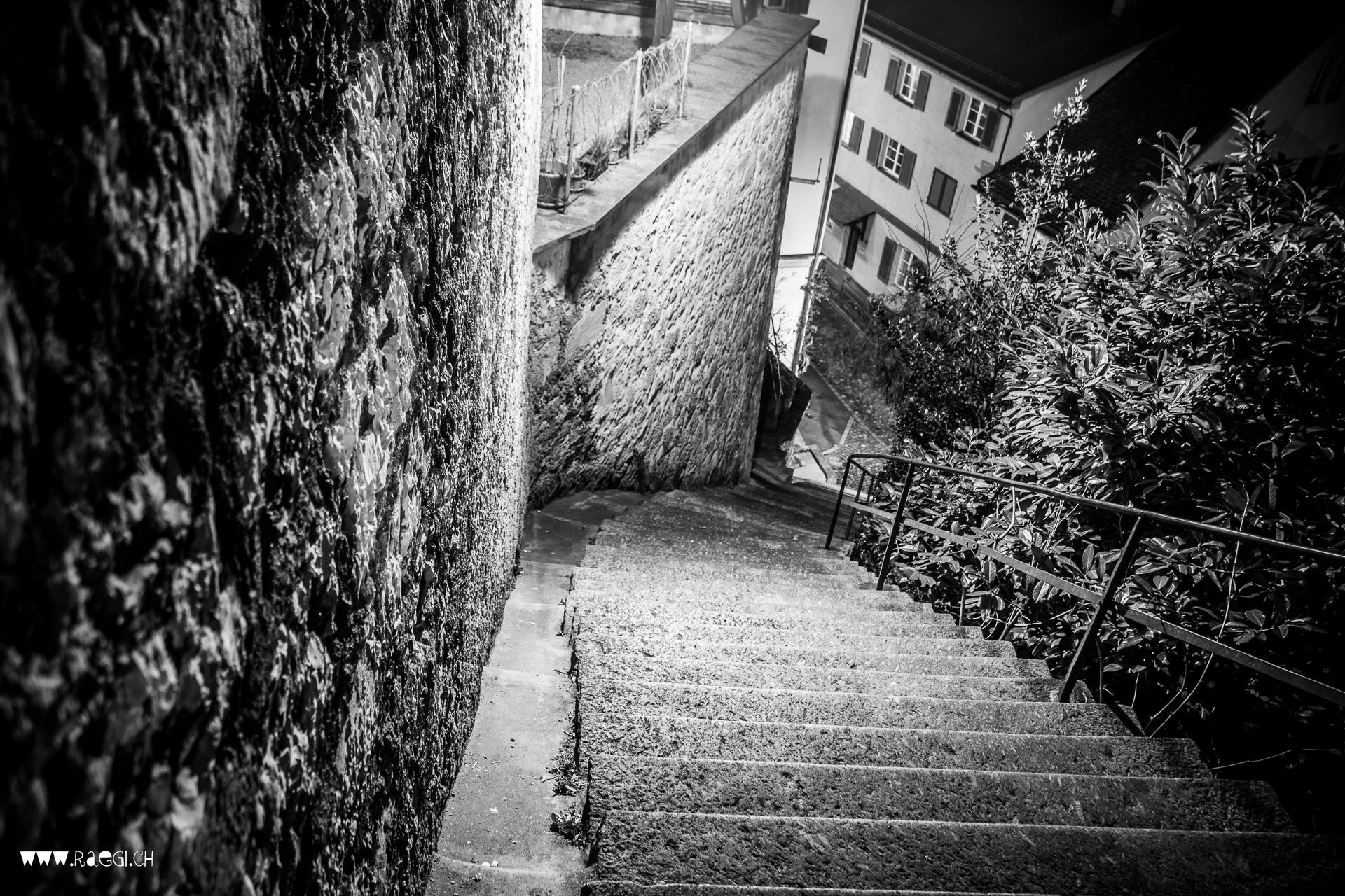 Treppe zur unteren Halde