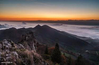 Nebelmeer und Morgenrot