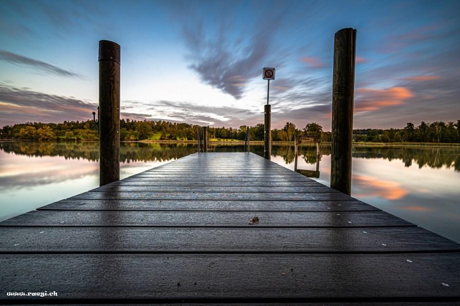 boat dock at katzensee
