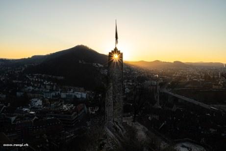 Sonnenaufgang Schloss Stein in Baden