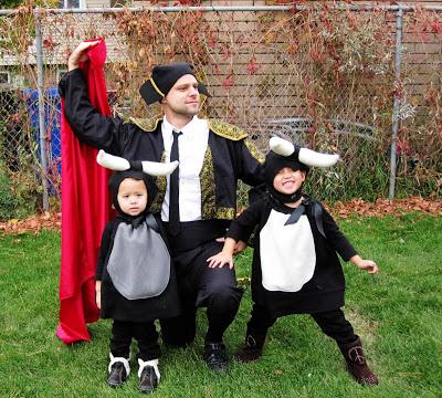 baby bull and matador DIY costumes