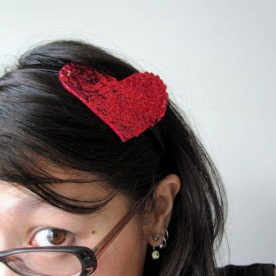 Tutorial: Sequined Heart Headband