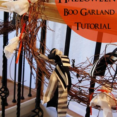 Halloween Quick Boo Garland Tutorial