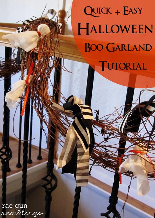 Halloween Boo Garland Tutorial - Rae Gun Ramblings #halloween #craft #diy