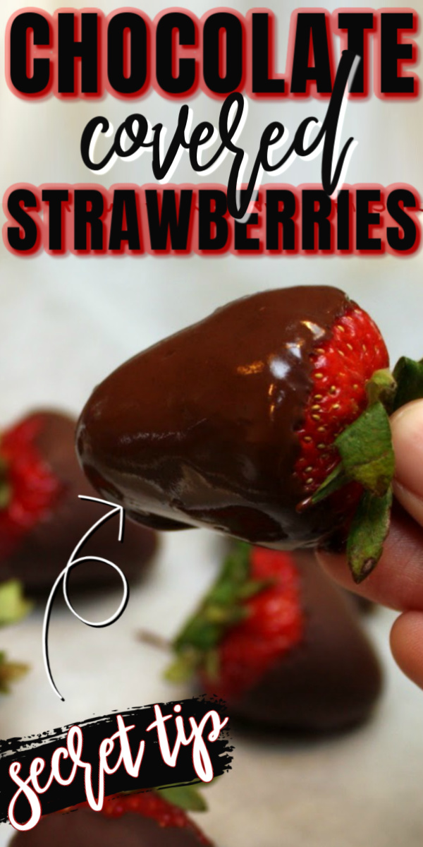 Why didn't I know this trick for perfect chocolate covered strawberries!? I won't do them any other way now. So easy and delicious for quick dessert or treat.