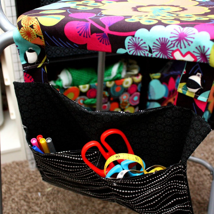 genius chair pocket sewing tutorial. How to sew easy storage organization to your own home decor even small spaces