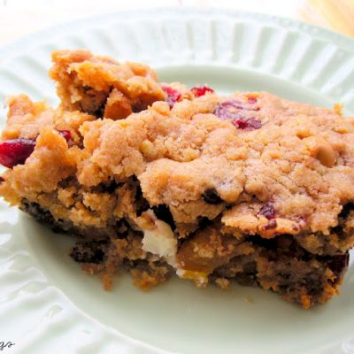 Recipe: Double Chocolate and Cranberry Blondies