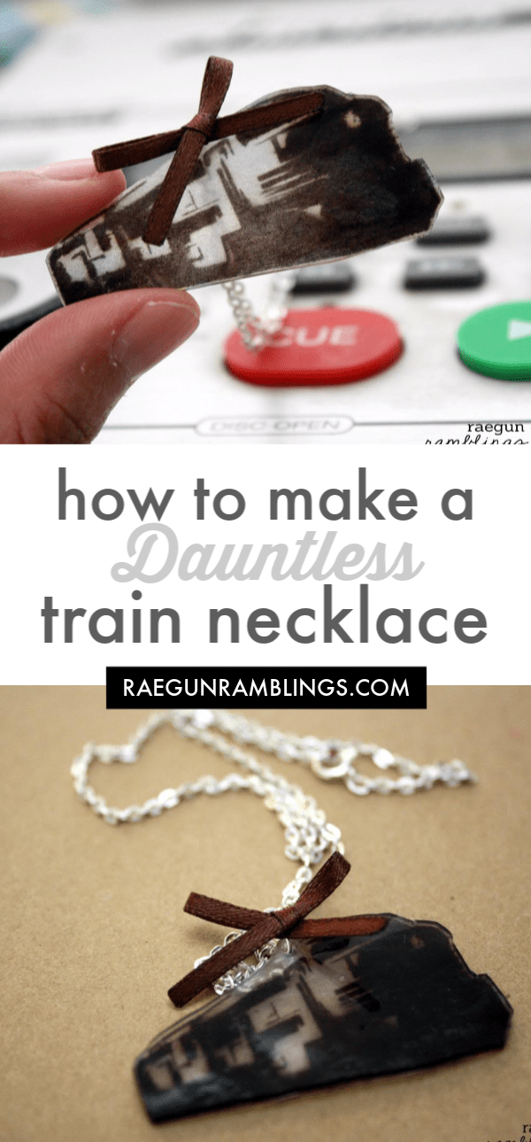 how to make a shrinky dink Dauntless train necklace