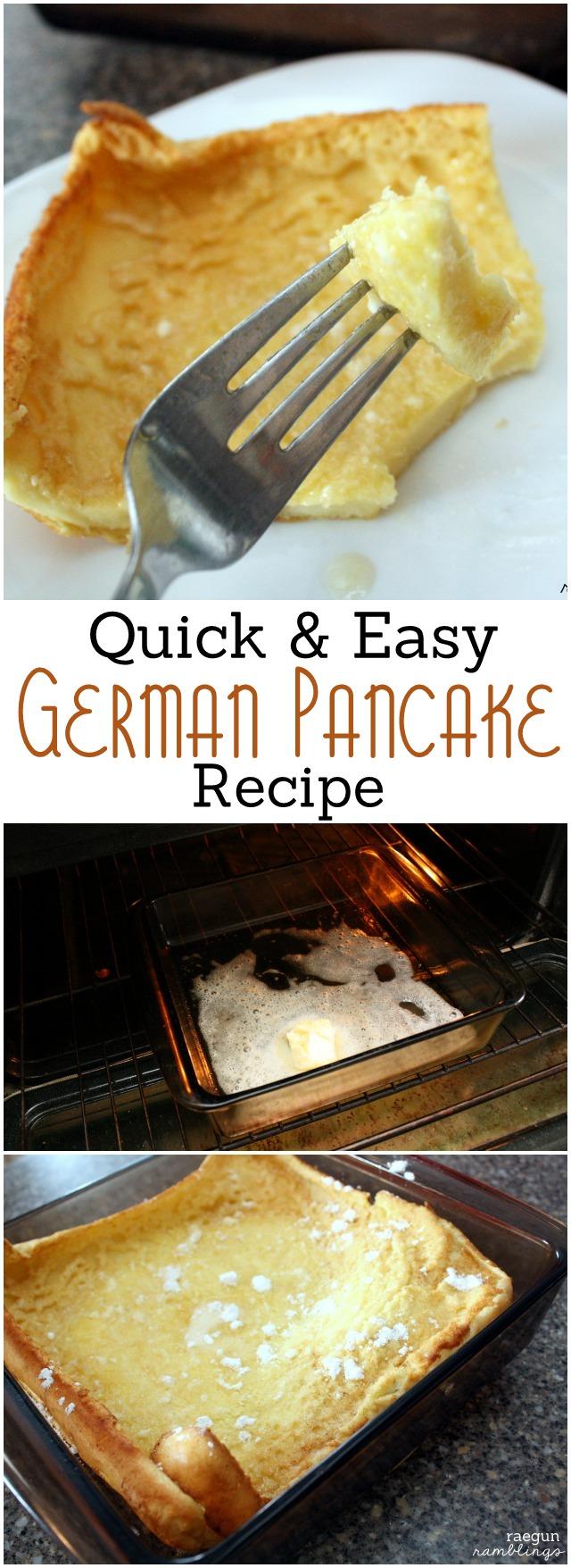 Love this Dutch Baby German Pancake recipe I've tried it so many times. from Rae Gun Ramblings
