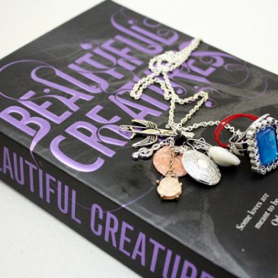 Beautiful Creatures Series Books Review and Lena Duchannes Necklace Tutorial