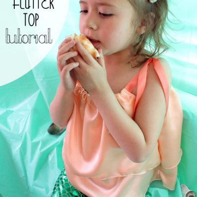 Kid Mermaid Flutter Top Tutorial