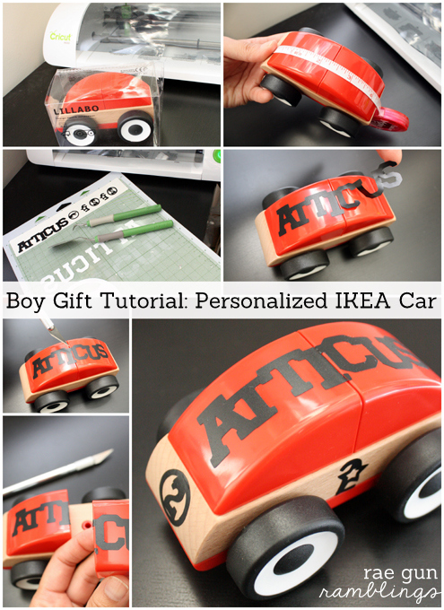 Step by step instructions on how to fancy up and personalize a cute toy car love this #boy #gift #tutorial Rae Gun Ramblings