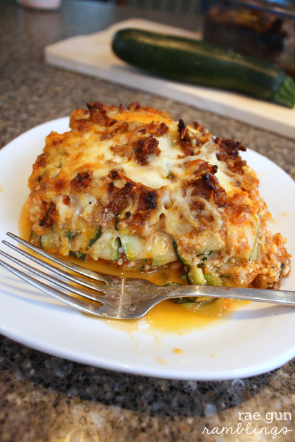 World' yummiest zucchini lasagna - Rae Gun Ramblings