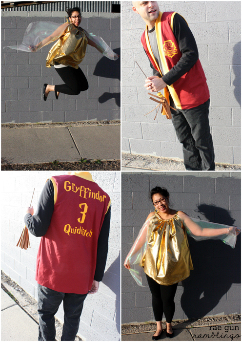 Funny couple costume. Snitch and Quidditch player from Harry Potter - Rae Gun Ramblings