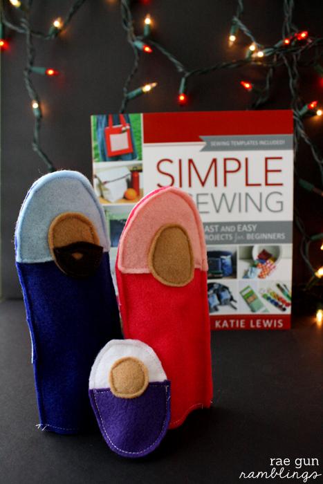Felt Nativity Puppets and Simple Sewing book review - Rae Gun Ramblings