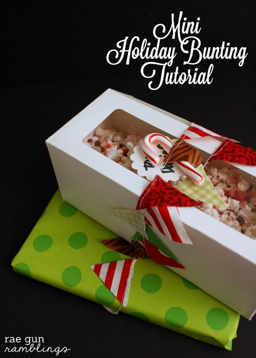 mini holiday bunting tutorial - Rae Gun Ramblings