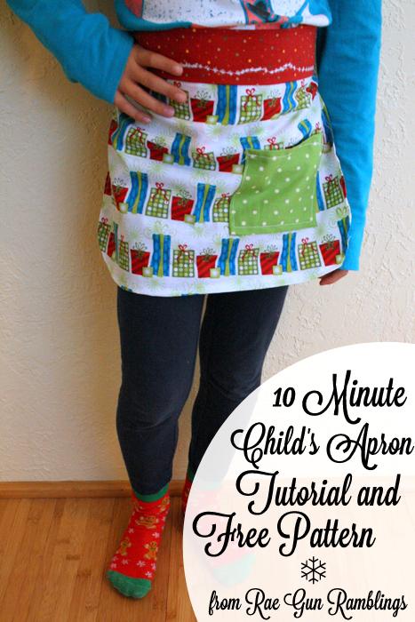 10 minute apron tutorial with free pattern - Rae GUn Ramblings