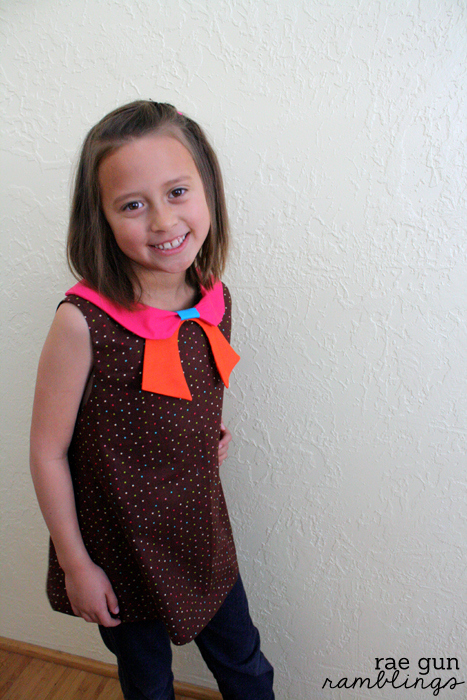 Quick and easy girl's tunic and dress sewing pattern - Rae Gun Ramblings