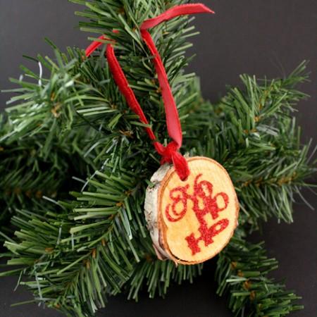 Wood Tag Glitter Ornaments full tutorial at Rae Gun Ramblings
