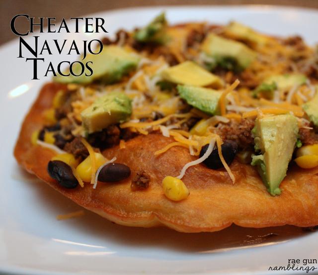 Yummy and easy homemade cheater Navajo tacos at Rae Gun Ramblings