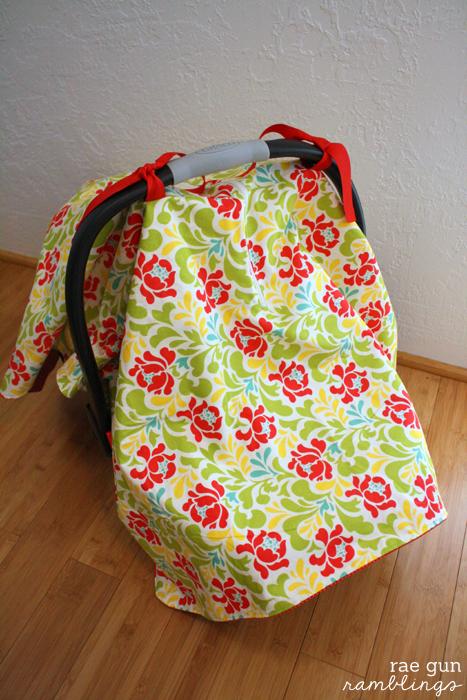 Make your own zippered car seat cover - Rae Gun Ramblings