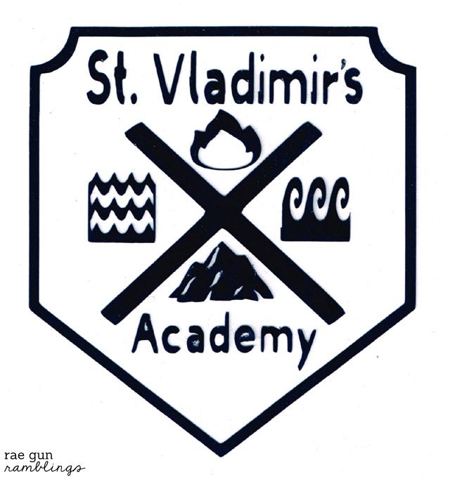 Vampire Academy St. Vladimir's academy school crest and shirt tutorial from Rae Gun Ramblings