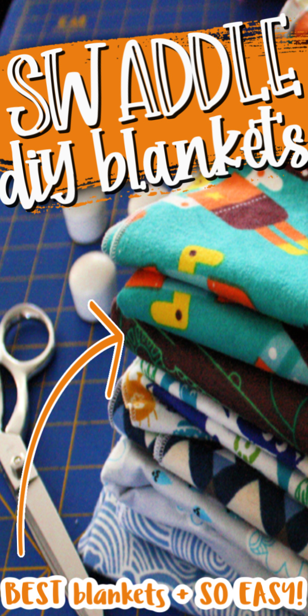 Hands down my favorite baby swaddle blankets. These stay in place and they are so easy to make with this simple 15 minute sewing tutorial.