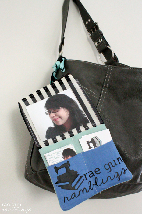 A conference friendly business card case that can attach to any purse. Tutorial at Rae Gun Ramblings