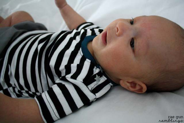 Snappy shirt! Love this fast sewing project for baby - Rae Gun Ramblings