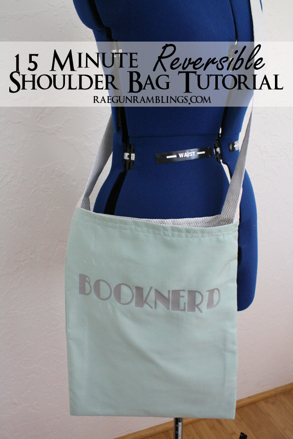 Fast bag tutorial perfect for beginning sewers at Rae Gun Ramblings