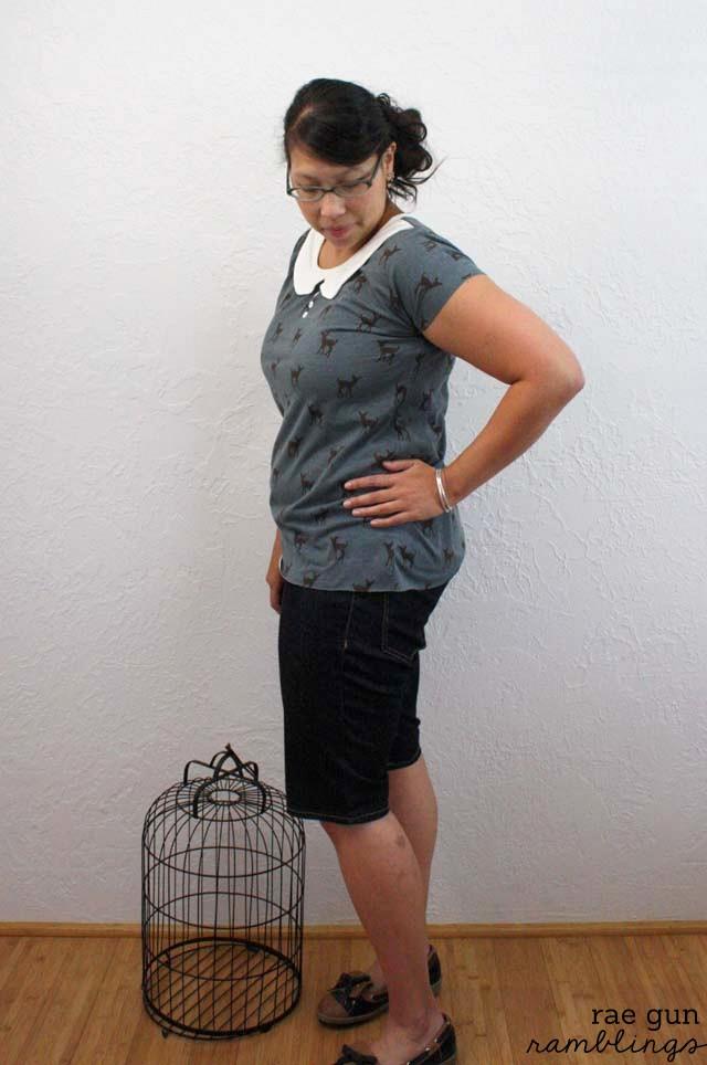 Make a cute peter pan collar shirt in just 30 minutes with this free pattern - Rae Gun Ramblings
