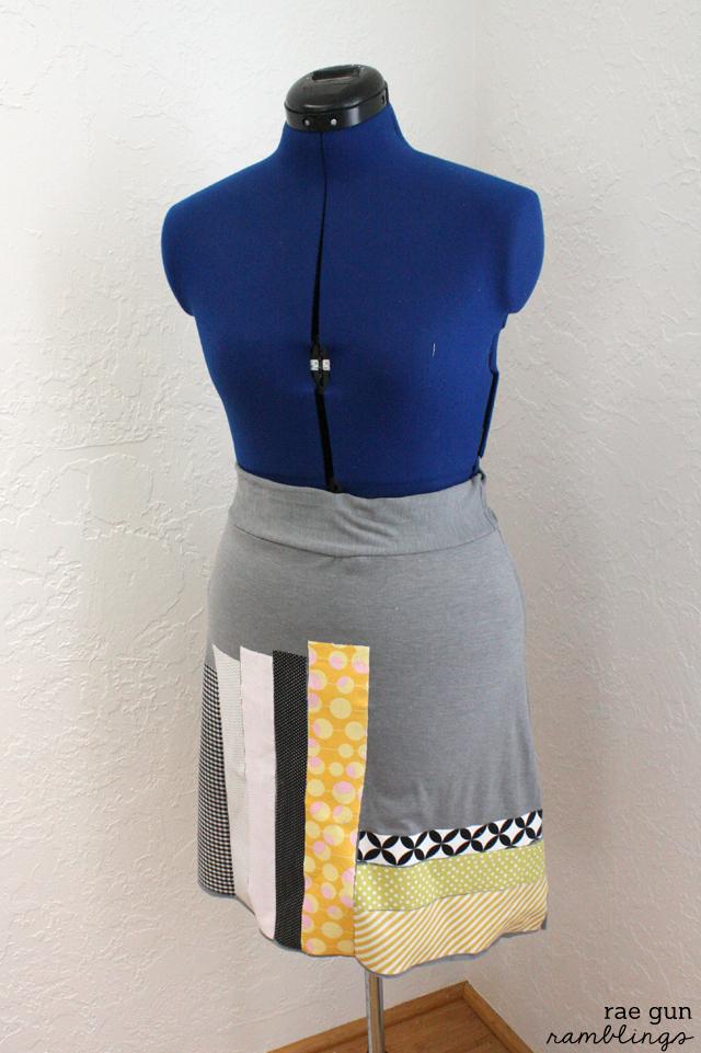Book psuedo quilt skirt - Rae Gun Ramblings
