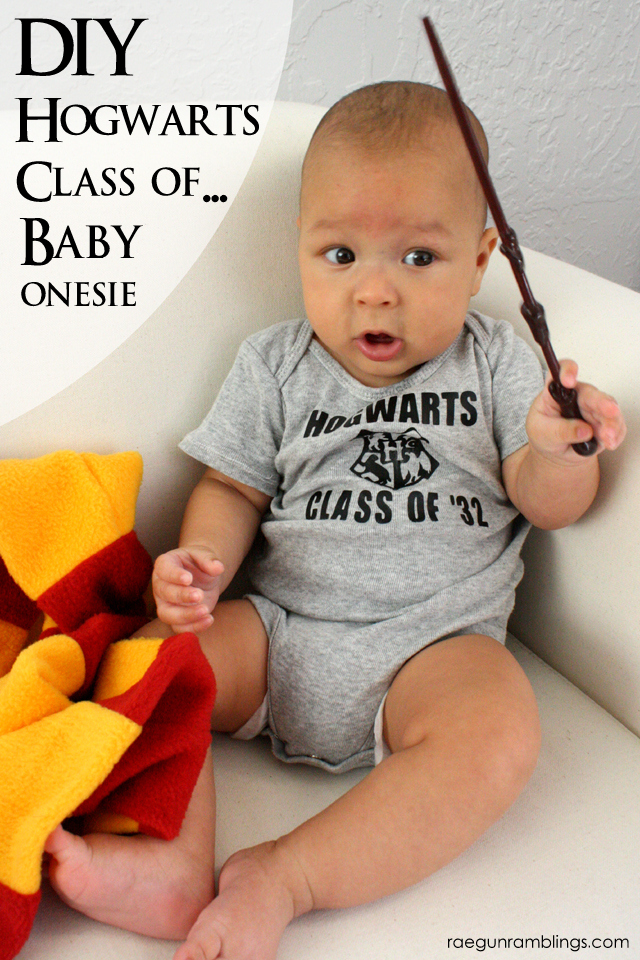 Fun Harry Potter inspired onesie. Class of '32 at Rae Gun Ramblings
