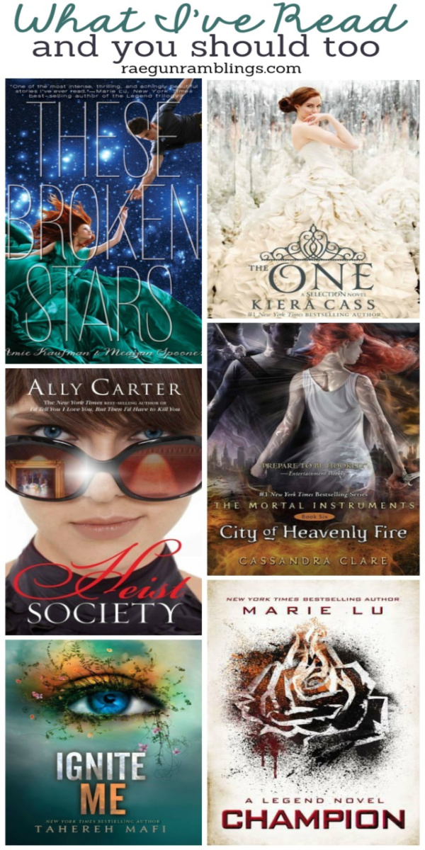 Great selection of YA books to read. Perfect for boys and girls!