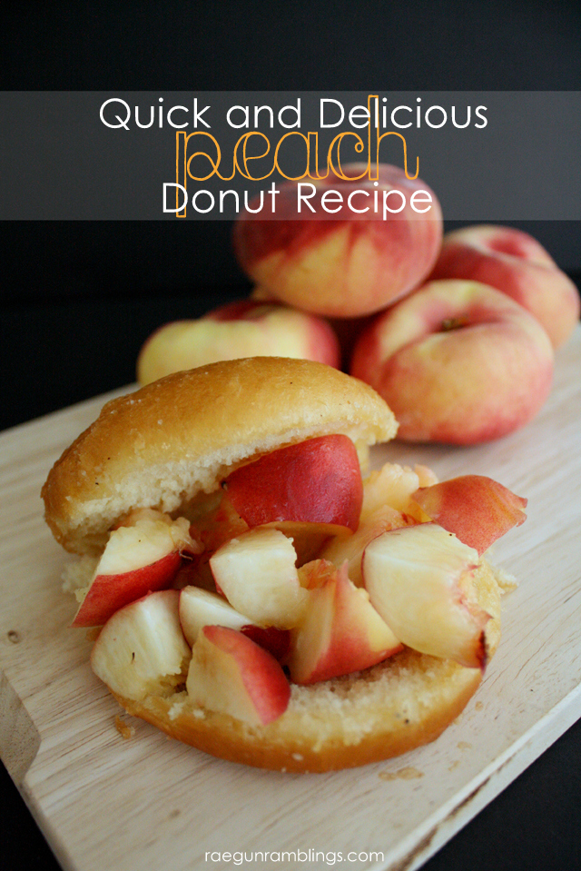 These peach donuts are so yummy and easy. Definitely a new favorite recipe. at Rae Gun Ramblings