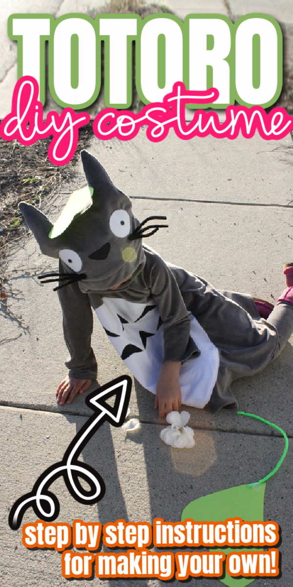 kid dressed up as Totoro