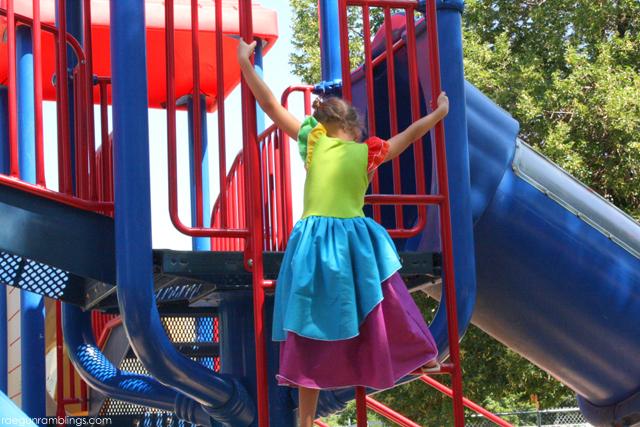 Rainbow Princess Dress Tutorial - Rae Gun Ramblings