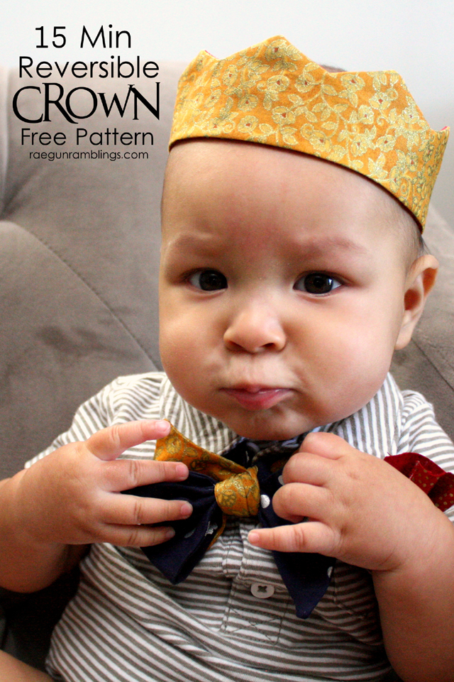 Free Crown Pattern. Fits baby to adult heads - Rae Gun Ramblings #costume #sewyourstyle #halloween