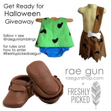 Freshly Picked Moccs and Rae Gun Pebbles and Bam Bam baby costumes