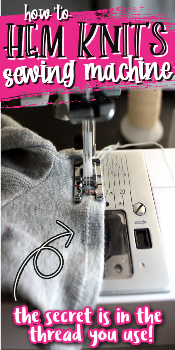 the secret to hemming knits on a sewing machine it's all in the thread