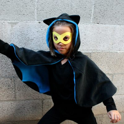 Quick and Easy Bat Girl Cape Tutorial