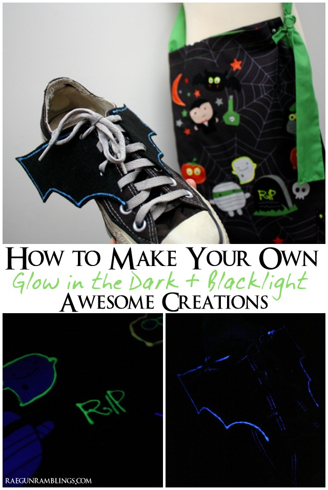 Great tips on how to make glow in the dark and black light projects that really glow - Rae Gun Ramblings