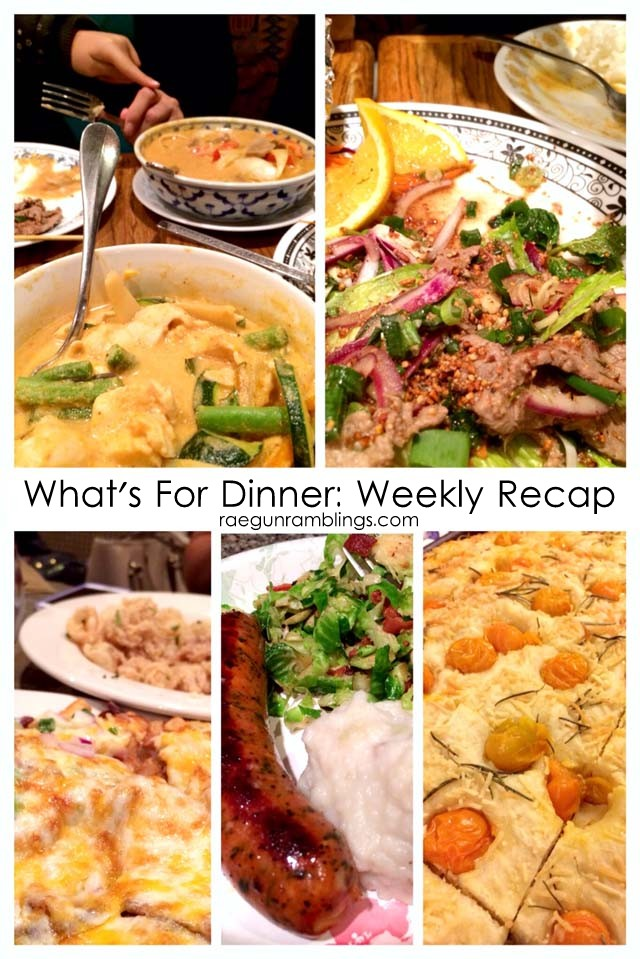 What's for Dinner weekly menu and recap at Rae Gun Ramblings