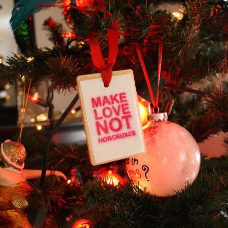 Make Love Not Horcruxes Harry Potter Ornament - Rae Gun Ramblings